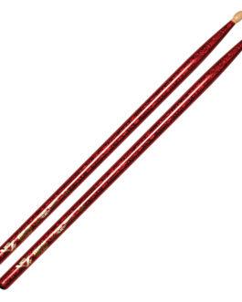 Color Wrap 5A Red Sparkle Drum Sticks