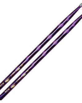 Color Wrap 5B Purple Optic Drum Sticks