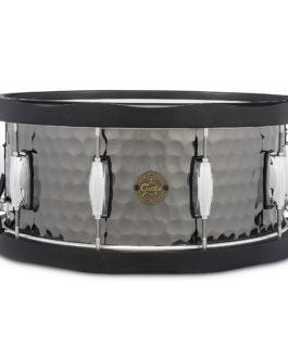 Gretsch 6.5X14 Hammered Black Steel Wood Hoop Snare Drum