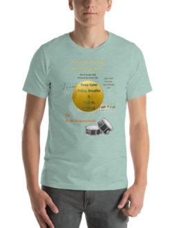 The 6 Stroke Roll Short-Sleeve Unisex T-Shirt - Heather Prism Dusty Blue