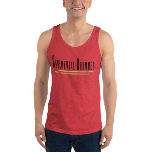 Rudimental Drummer Unisex Tank Top - Red Triblend