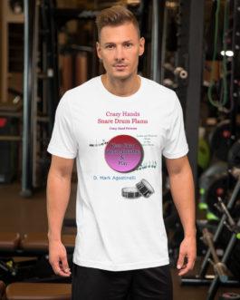 Crazy Hands - Flams Short-Sleeve Unisex T-Shirt - White