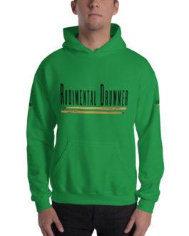 Rudimental Drummer Hooded Sweatshirt - Irish Green