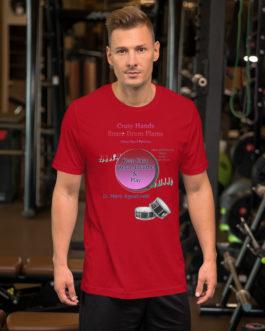 Crazy Hands - Flams Short-Sleeve Unisex T-Shirt - Red