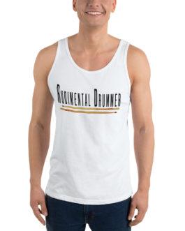 Rudimental Drummer Unisex Tank Top - White