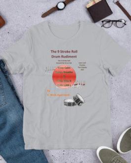 The 9 Stroke Roll Short-Sleeve Unisex T-Shirt - Silver