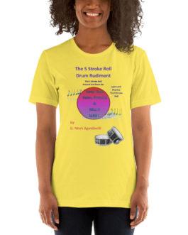 The 5 Stroke Roll Short-Sleeve Unisex T-Shirt - Yellow