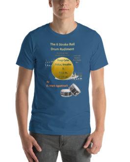 The 6 Stroke Roll Short-Sleeve Unisex T-Shirt - Steel Blue