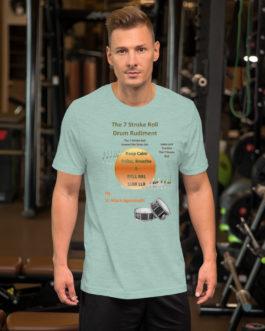 The 7 Stroke Roll Short-Sleeve Unisex T-Shirt - Heather Prism Dusty Blue
