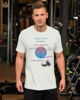 Snare Drum Accents Short-Sleeve Unisex T-Shirt - Ash
