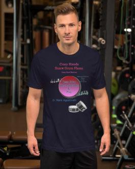 Crazy Hands - Flams Short-Sleeve Unisex T-Shirt - Navy