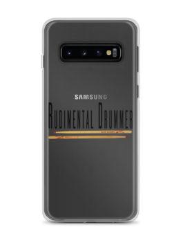 Rudimental Drummer Samsung Case (Clear) - Samsung Galaxy S10