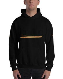 Rudimental Drummer Hooded Sweatshirt - Black