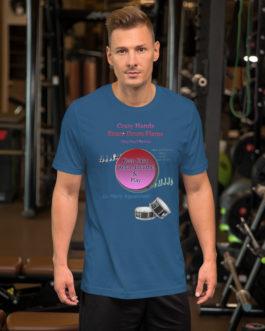 Crazy Hands - Flams Short-Sleeve Unisex T-Shirt - Steel Blue