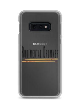 Rudimental Drummer Samsung Case (Clear) - Samsung Galaxy S10e