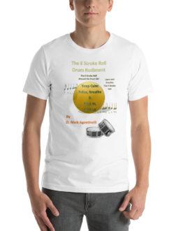 The 6 Stroke Roll Short-Sleeve Unisex T-Shirt - White