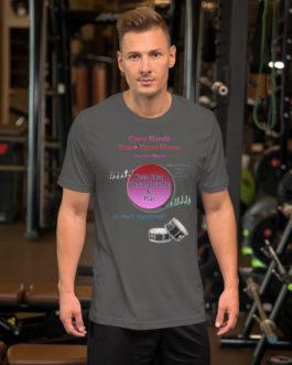 Crazy Hands - Flams Short-Sleeve Unisex T-Shirt - Asphalt