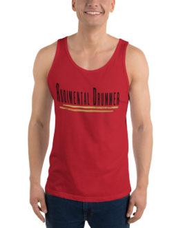 Rudimental Drummer Unisex Tank Top - Red