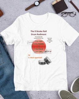 The 9 Stroke Roll Short-Sleeve Unisex T-Shirt - White