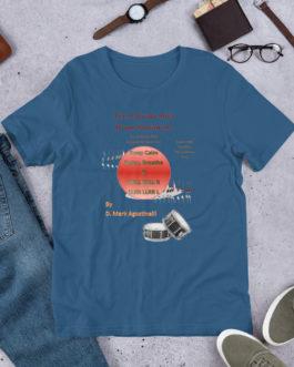 The 9 Stroke Roll Short-Sleeve Unisex T-Shirt - Steel Blue
