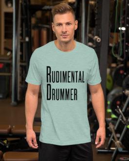 Dreams Rudimental Drummer Short-Sleeve Unisex T-Shirt - Heather Prism Dusty Blue