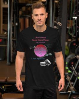 Crazy Hands - Flams Short-Sleeve Unisex T-Shirt - Black