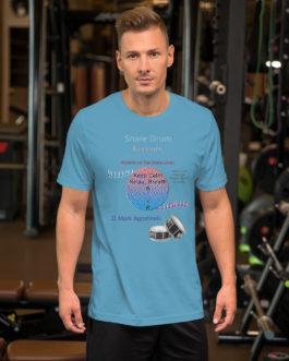Snare Drum Accents Short-Sleeve Unisex T-Shirt - Ocean Blue