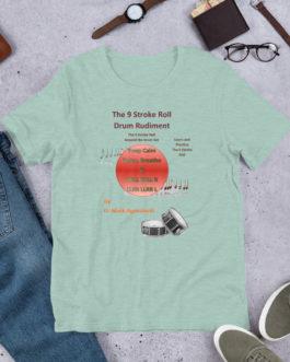 The 9 Stroke Roll Short-Sleeve Unisex T-Shirt - Heather Prism Dusty Blue