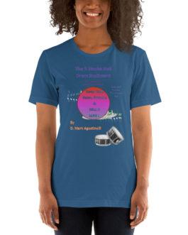The 5 Stroke Roll Short-Sleeve Unisex T-Shirt - Steel Blue