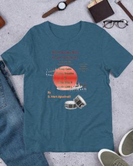 The 9 Stroke Roll Short-Sleeve Unisex T-Shirt - Heather Deep Teal