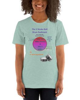 The 5 Stroke Roll Short-Sleeve Unisex T-Shirt - Heather Prism Dusty Blue