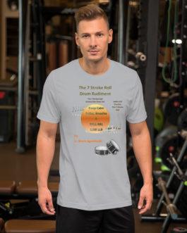 The 7 Stroke Roll Short-Sleeve Unisex T-Shirt - Silver