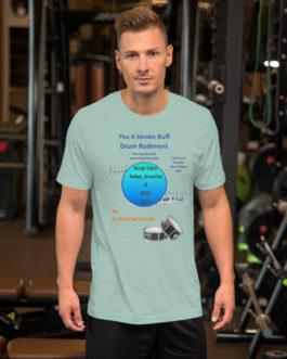 The 4 Stroke Ruff Short-Sleeve Unisex T-Shirt - Heather Prism Dusty Blue