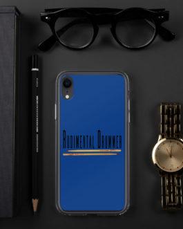 Rudimental Drummer iPhone Case (Blue)