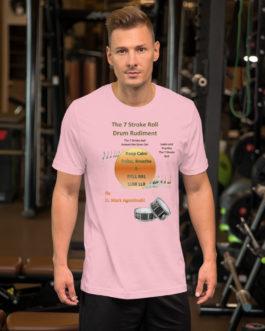 The 7 Stroke Roll Short-Sleeve Unisex T-Shirt - Pink