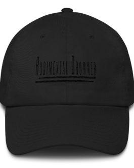 Rudimental Drummer Embroidered on a Cotton Baseball Cap - Black