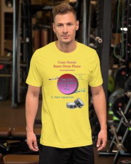 Crazy Hands - Flams Short-Sleeve Unisex T-Shirt - Yellow