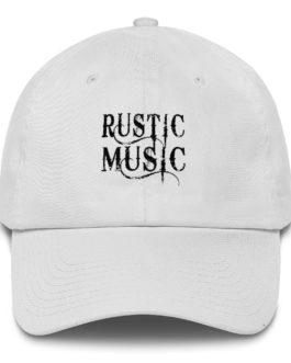 Famous Rustic Music Center Cotton Cap - White