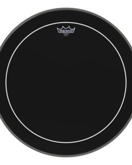 Remo – Bass, Pinstripe, Ebony, 20 Diameter –  – 20″ (in)