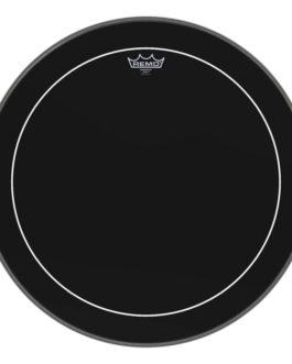Remo – Bass, Pinstripe, Ebony, 22 Diameter –  – 22″ (in)