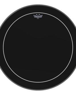 Remo – Bass, Pinstripe, Ebony, 24 Diameter –  – 24″ (in)
