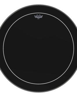 Remo – Bass, Pinstripe, Ebony, 26 Diameter –  – 26″ (in)
