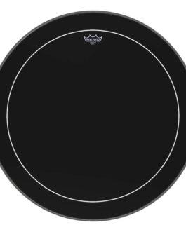 Remo – Bass, Pinstripe, Ebony, 28 Diameter –  – 28″ (in)