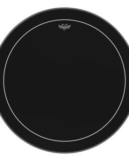 Remo – Bass, Pinstripe, Ebony, 30 Diameter –  – 30″ (in)
