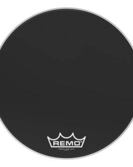 Remo – Bass, Powermax 2, Ebony, 22 Diameter, Mp –  – 22″ (in)